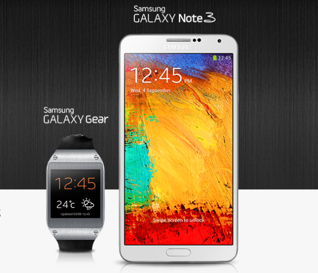 Galaxy Note 3 and Gear